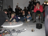 sound performance at kronika gallery, Bytom Poland
