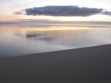 sunrise on the Curonian Split in Lithuania