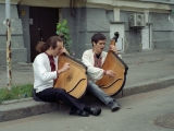 analog film photo: Kiev street musicians
